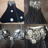 Black and white bellydance costume