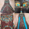Queen hanan brown and turquoise costume